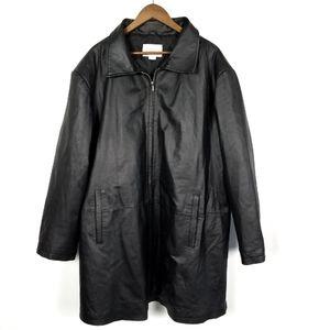 Studio C Plus Black Leather Jacket 26/28